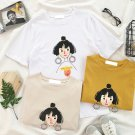 Cute girl with 3D earring Graphic Tee