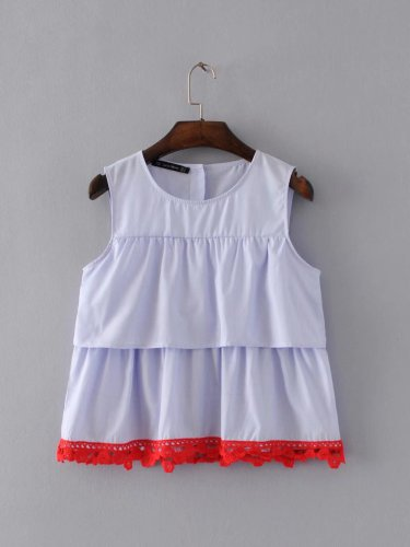 SUMMER WOMAN RUFFLED LACE TOP