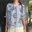 Summer teen girl off-the-shoulder blouse T-Shirt NEW