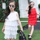 Girl's summer ruffled dress