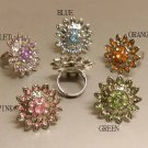 Woman Jewelry Metal flower ring adjustable size
