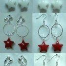 Handmade hoop star girl dangle earring