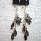 Girl jewelry leaf charm dangle earring