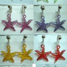 Starfish kid girl's dangle earring