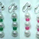 Plastic beads clip on earring