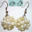 Handmade mother of pearl ball earring