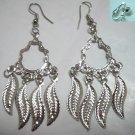 Leaf charm dangle earring