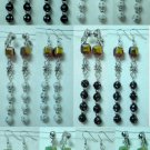 Handmade glass bead dangle earring