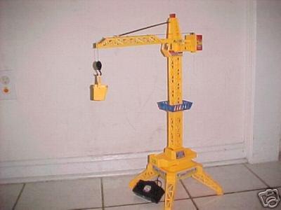 R/C remote control cable TOWER CRANE w/hook & bucket