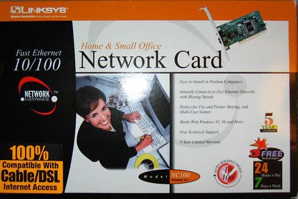 CAT 5 Internal ethernet NETWORK CARD windows 98 NT 2000