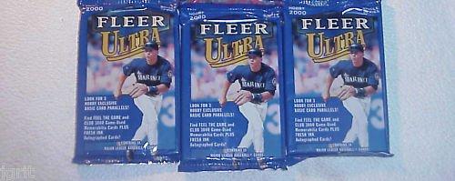 3 new 2000 Fleer ULTRA baseball HOBBY PACK - sealed