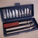 New razor sharp hobby knife KNIVES SET w/case - NEW!!!