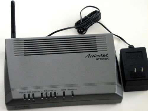 ActionTec GT704 WG DSL ethernet USB modem WIRELESS
