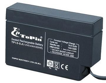 ToPin rechargable lead acid battery TP12-0.8 alarm syst