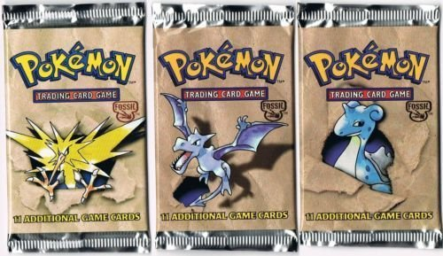 FOSSIL Pokemon 3 sealed NEW MINT booster packs rare NEW