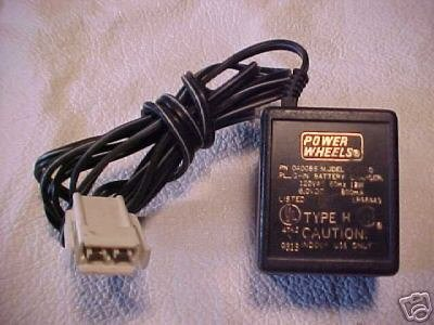 6v 6 volt Power Wheels charger FisherPrice - white plug
