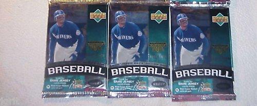 3 new 1999 UPPER DECK series 1 baseball HOBBY PACK