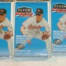 3 new 2000 FLEER FOCUS MLB baseball PACK sealed