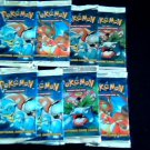 Pokemon 8 Sealed booster packs base basic set rare