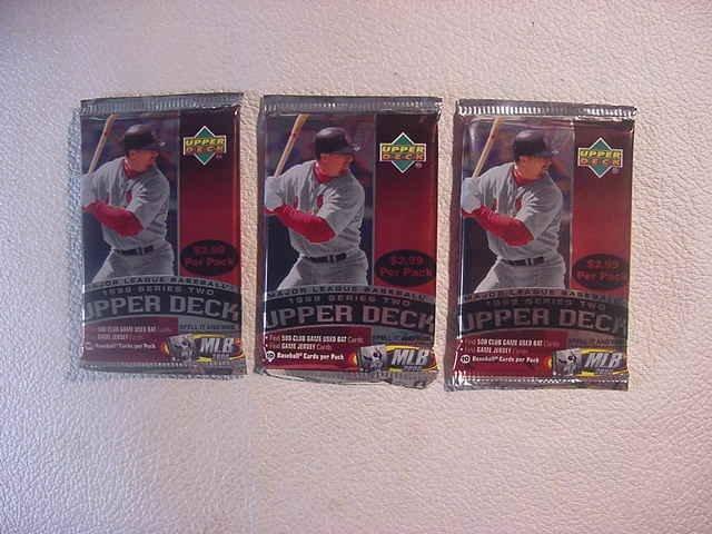 3 (three) new 1999 UPPER DECK series 2 baseball PACKs - new retail
