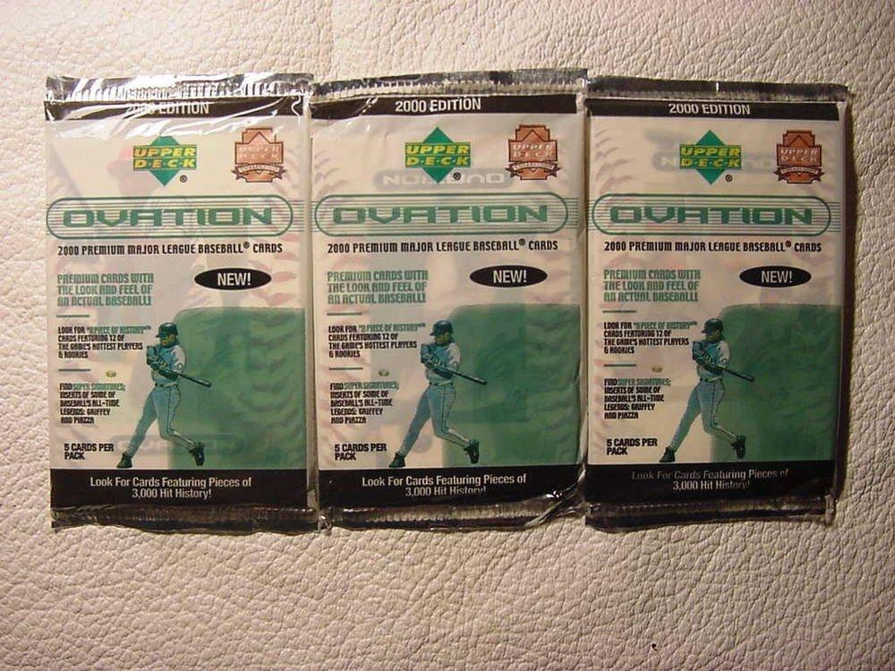 3 new 2000 Upper Deck OVATION baseball packs PACK - sealed