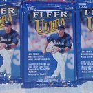 3 new 2000 Fleer ULTRA baseball HOBBY PACK packs - factory sealed new