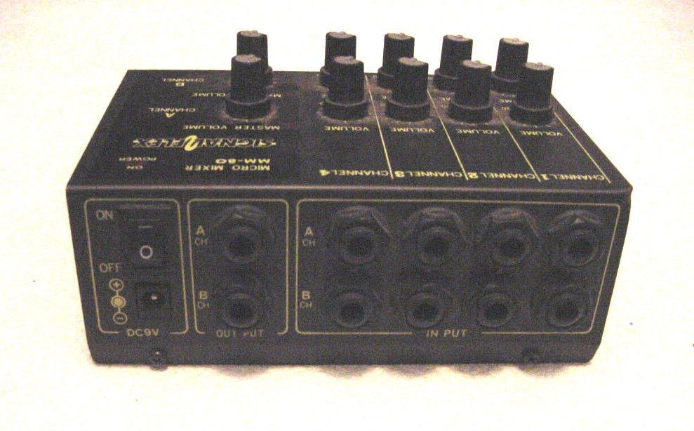 Signal Flex 4 Channel Micro mini Stereo Mixer MM80 multi processor MM-80