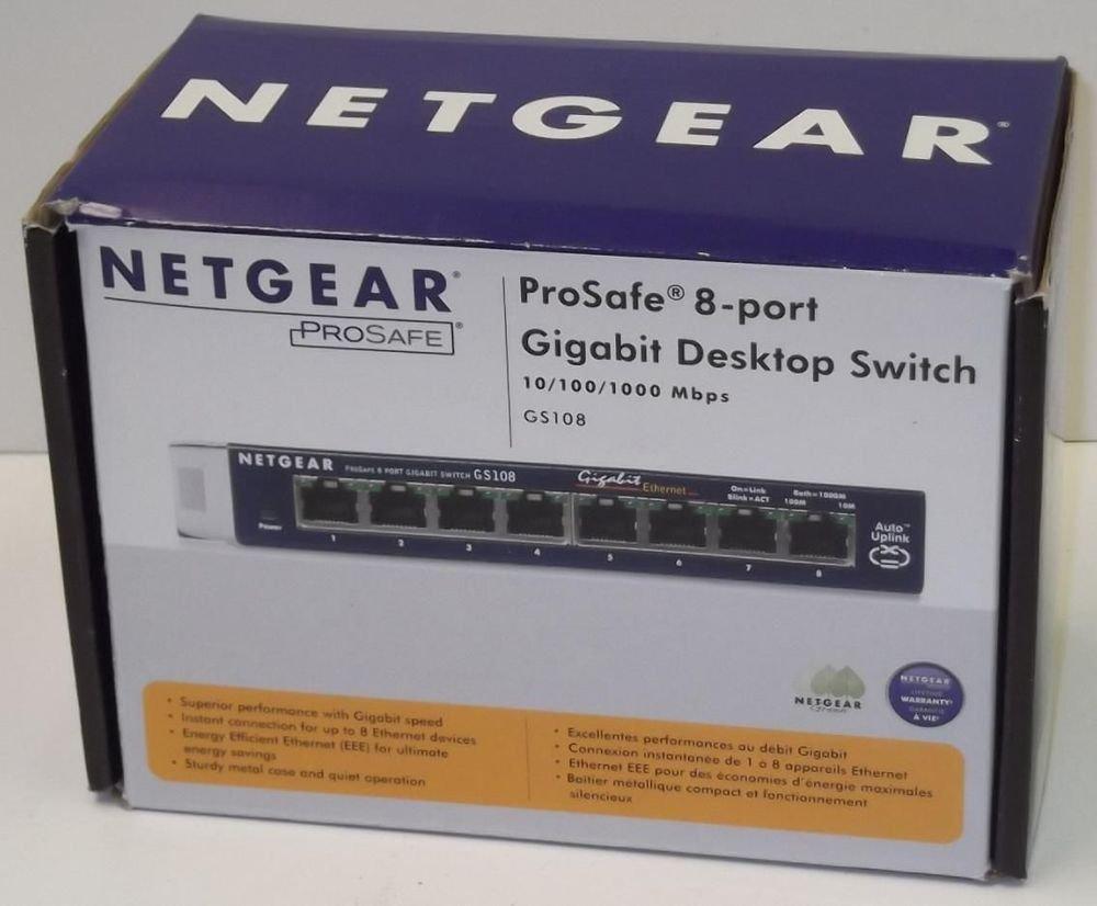 GS108 NetGear - ProSafe 8 Ports External Ethernet fast ethernet switch modem hub