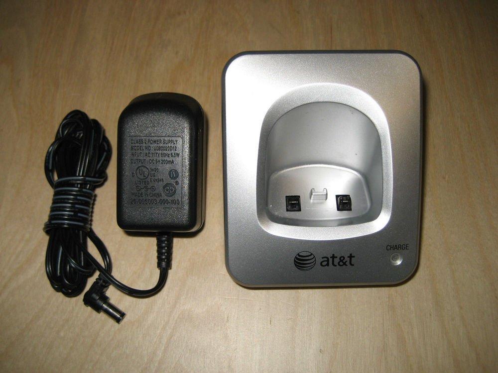 AT T remote charger base w/PSU = CORDLESS tele PHONE E5912B E5913B E5914B att ac