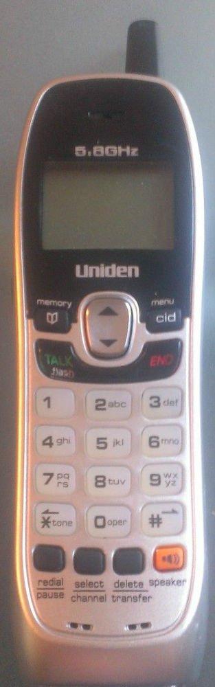 Uniden DXI 8560 3 HANDSET - cordless expansion tele phone remote ecx85 5.8GHz