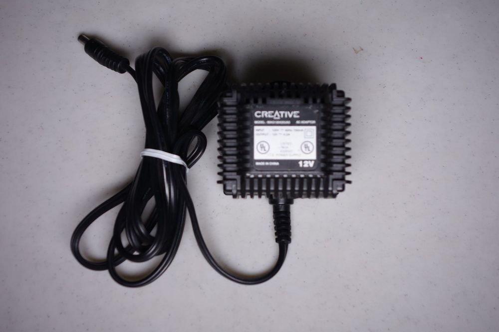 12v ac Creative adapter cord =Inspire speakers digital 5500 pc computer MP3 plug