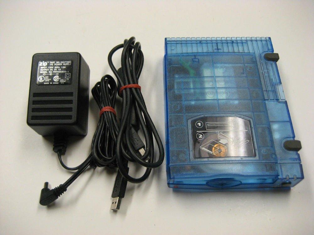 Iomega Zip 100 USB clear blue External storage Drive Z100USB USB2 USB PC MAC