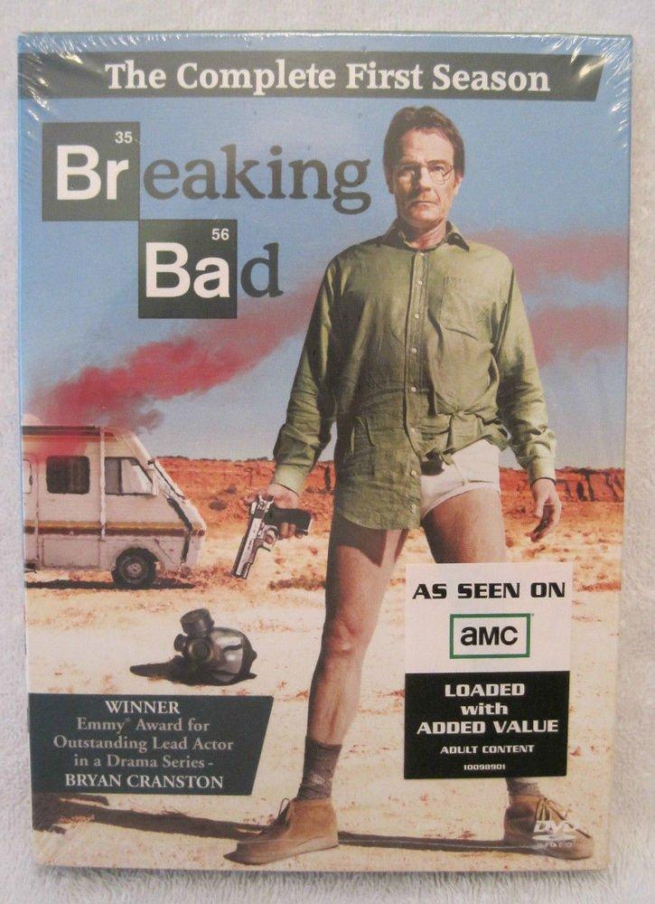 AMC - BREAKING BAD first Season 1 (one) DVD 3 Disc 2009 BOXED SET Bryan CRANSTON
