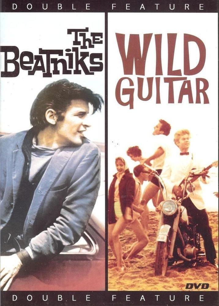 THE BEATNIKS & Wild Guitar DVD B&W 1950s era FUN movies Arch HALL Jr. - NEW