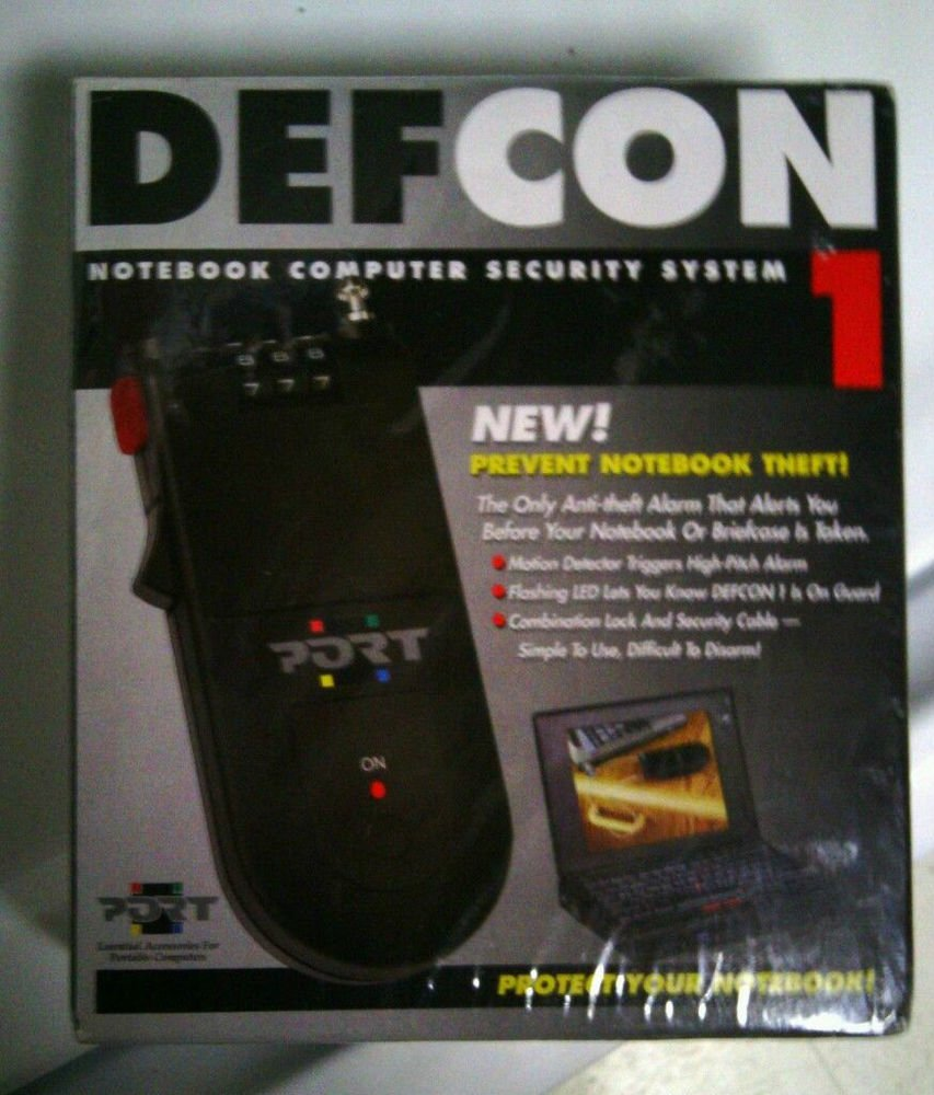 new DEFCON 1 NOTEBOOK COMPUTER SECURITY SYSTEM Prevent notebook/briefcase theft