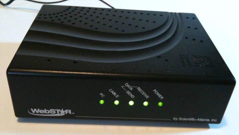 WEBSTAR Scientific Atlanta DPC2100 R2 mac pc CABLE MODEM USB EtherNet internet