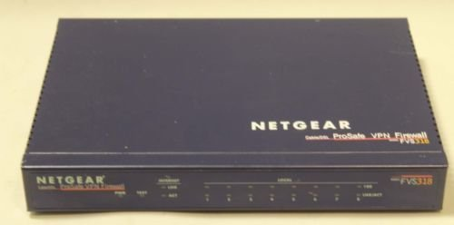 FVS 318 NETGEAR ProSafe VPN Firewall 8 pt internet cable router switch hub model