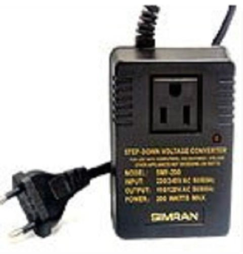 TRAVEL CONVERTER 220v 240v 110v 120v  200 watt step down up volts power adapter