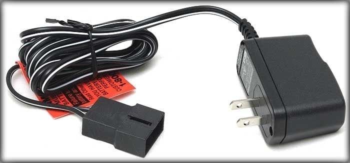 6 volt battery charger 6v 6volt FisherPrice Power Wheels black plug lite adapter