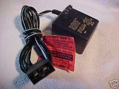 6V 6 volt Fisher Price Power Wheels battery charger black plug adapter ac dc VDC
