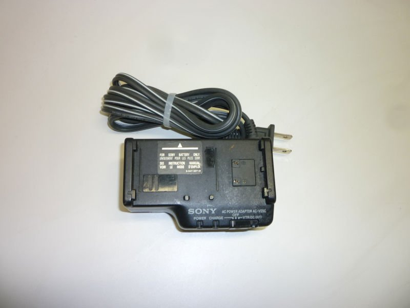Sony AC V25 power adapter - camcorder battery charger cord cable CCD TR33 camera