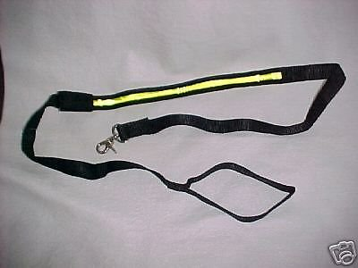 2 - TWO LEASHES New strong soft heavy lighted NIGHT dog walk safety snap hook