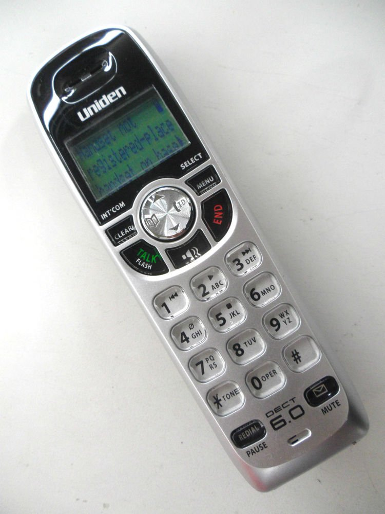 Uniden Dect 1580 3 HANDSET - cordless expansion telephone remote 6.0 GHz phone