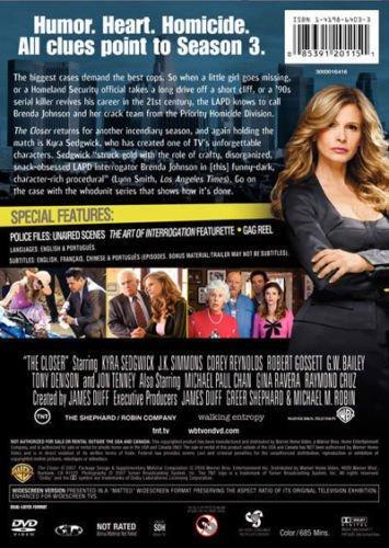 The Closer third season 3 three DVD 4 Disc BOXED SET Kyra Sedgwick J.K. Simmons