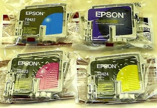 4 four Epson T0321 T0422 T0423 T0424 ink jet Cartridge C82 CX5200 CX5400 printer