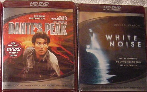 HD DVD Dante's Peak & White Noise DOUBLE FEATURE Michael Deaton Pierce Brosnan