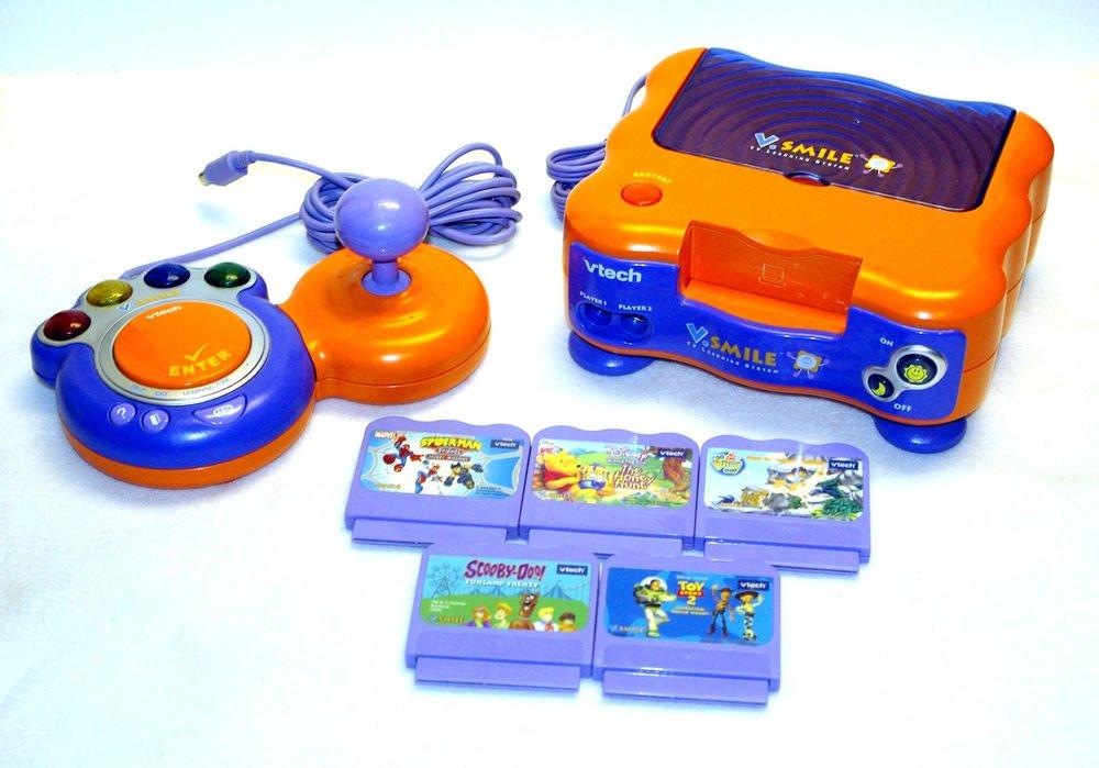 vTECH vSMILE educational learning game system console set w/ EXTRAS V Smile unit