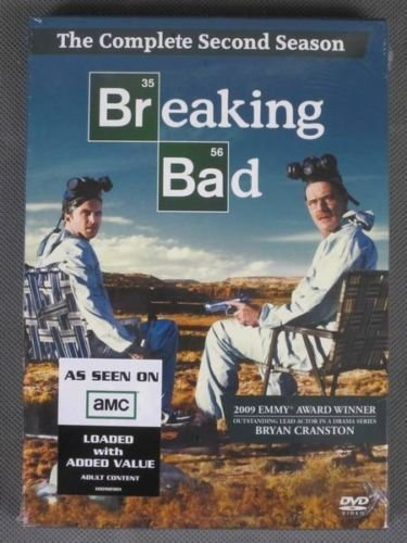 AMC BREAKING BAD second Season 2 (two) DVD 4 Disc 2010 BOXED SET Bryan CRANSTON