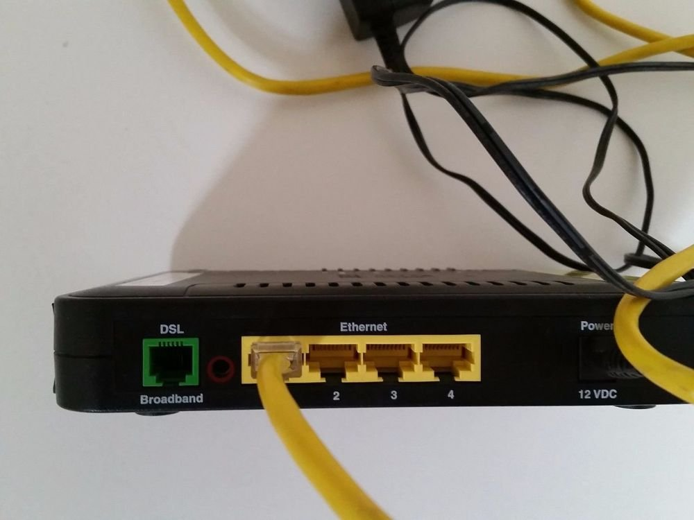 AT T DSL broadband MODEM ROUTER B90 755025 15 DSL-2+ ROUTER ethernet internet