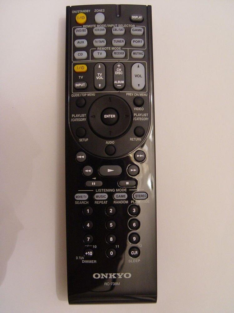Onkyo RC 738M REMOTE CONTROL receiver HTRC160 HTS7200 TXSR607 TXSR607S tv DVR CD